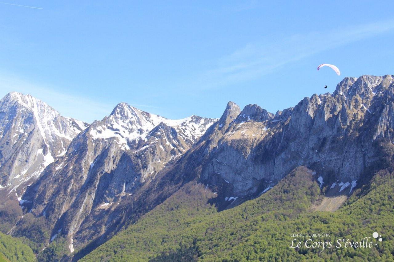 Photographie : Le Corps S'éveille, Centre de bien-être en Vallée d'Aspe, Pyrénées béarnaises.