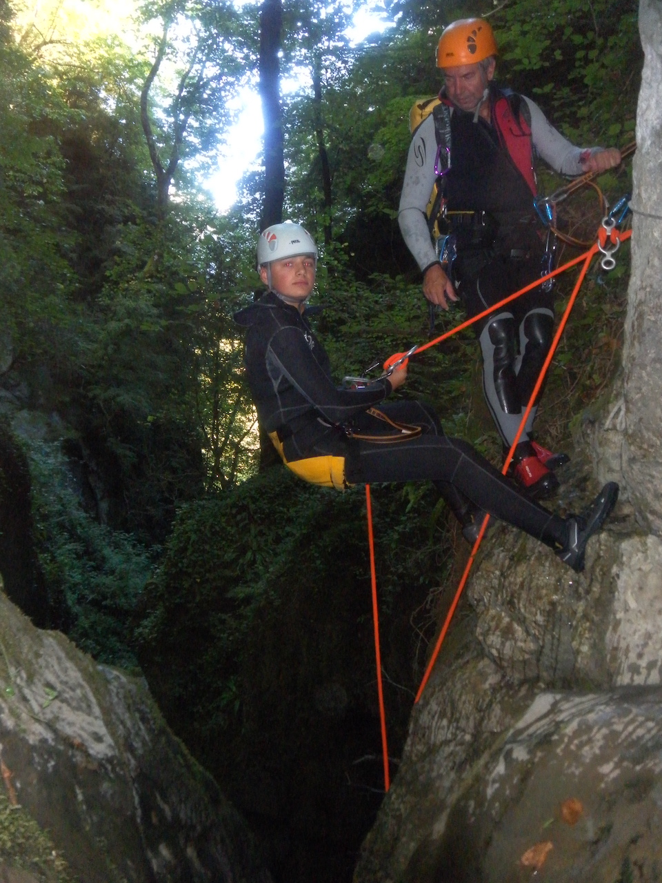 Le canyoning se pratique à partir de 8 ans.