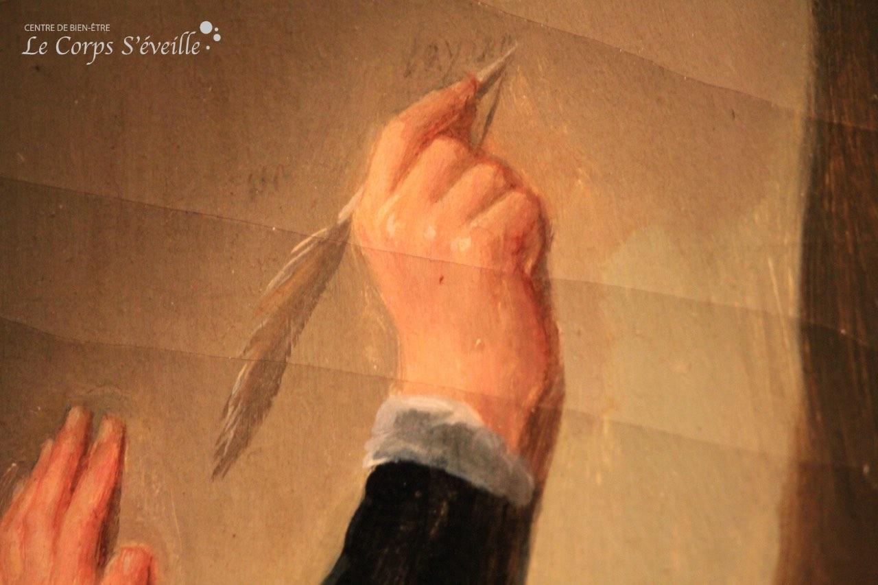 Rien de plus difficile que de peindre ou sculpter une main. Image prise au château de Pau.