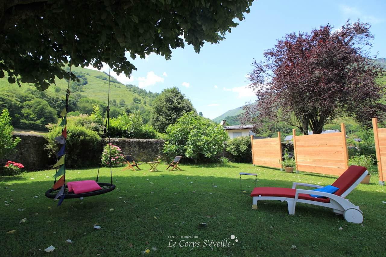 Le jardin de la Maison de Jeanne, chambres d'hôte en Vallée d'Aspe.