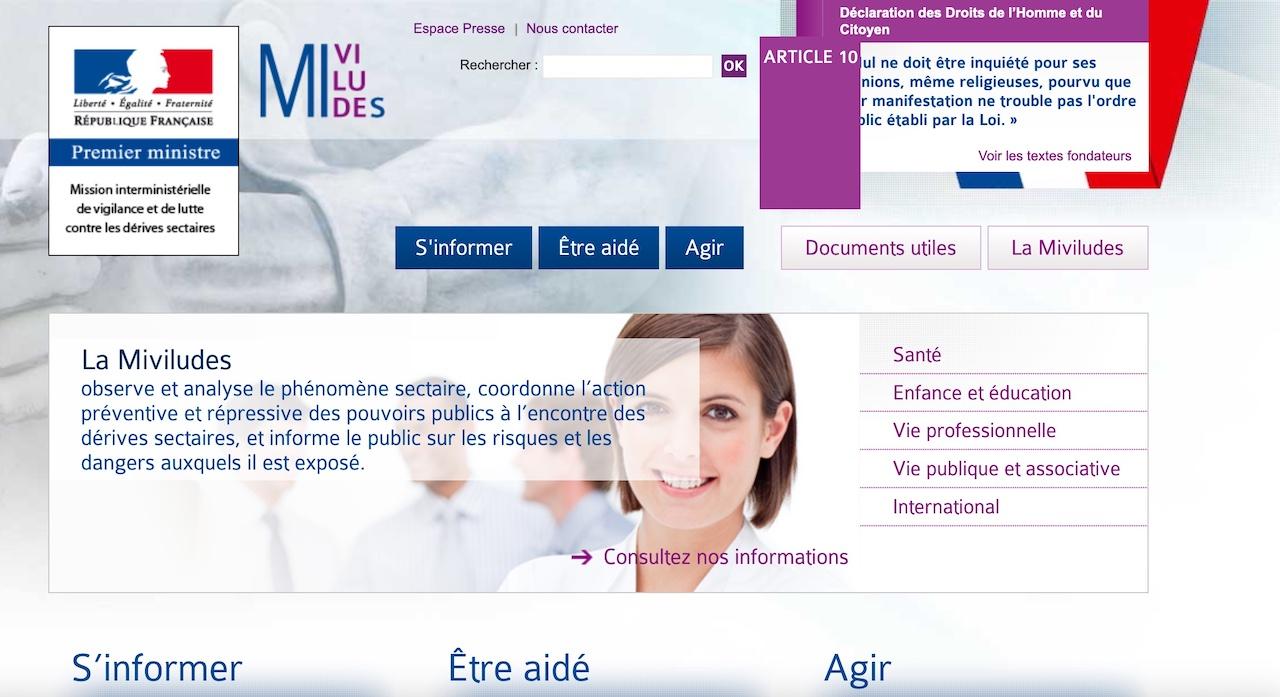 Cliquer sur l'image pour accéder au site de la Miviludes.