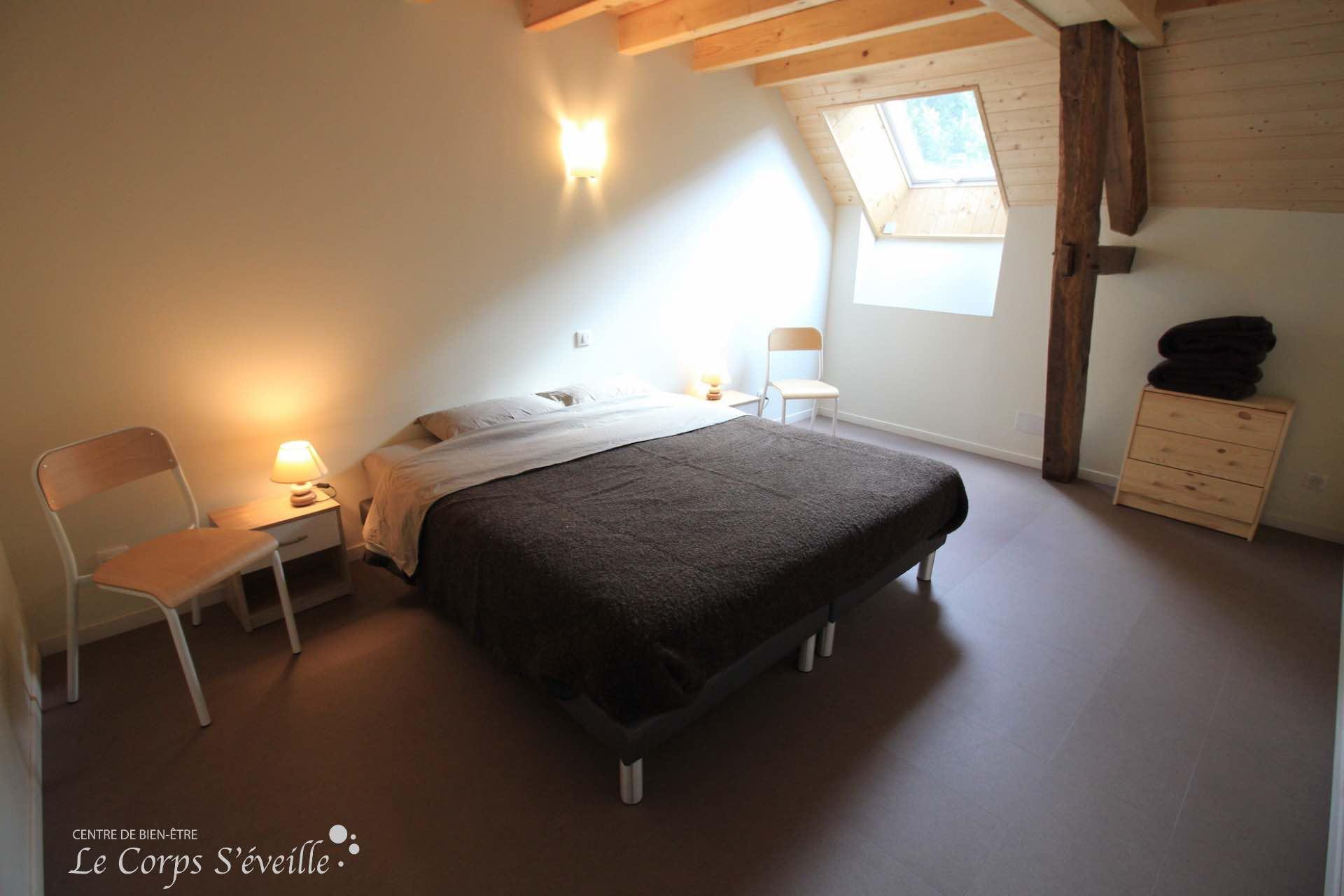 Une chambre au gîte Montagne & Vie en Vallée d'Aspe, sud d'Oloron-Sainte-Marie.