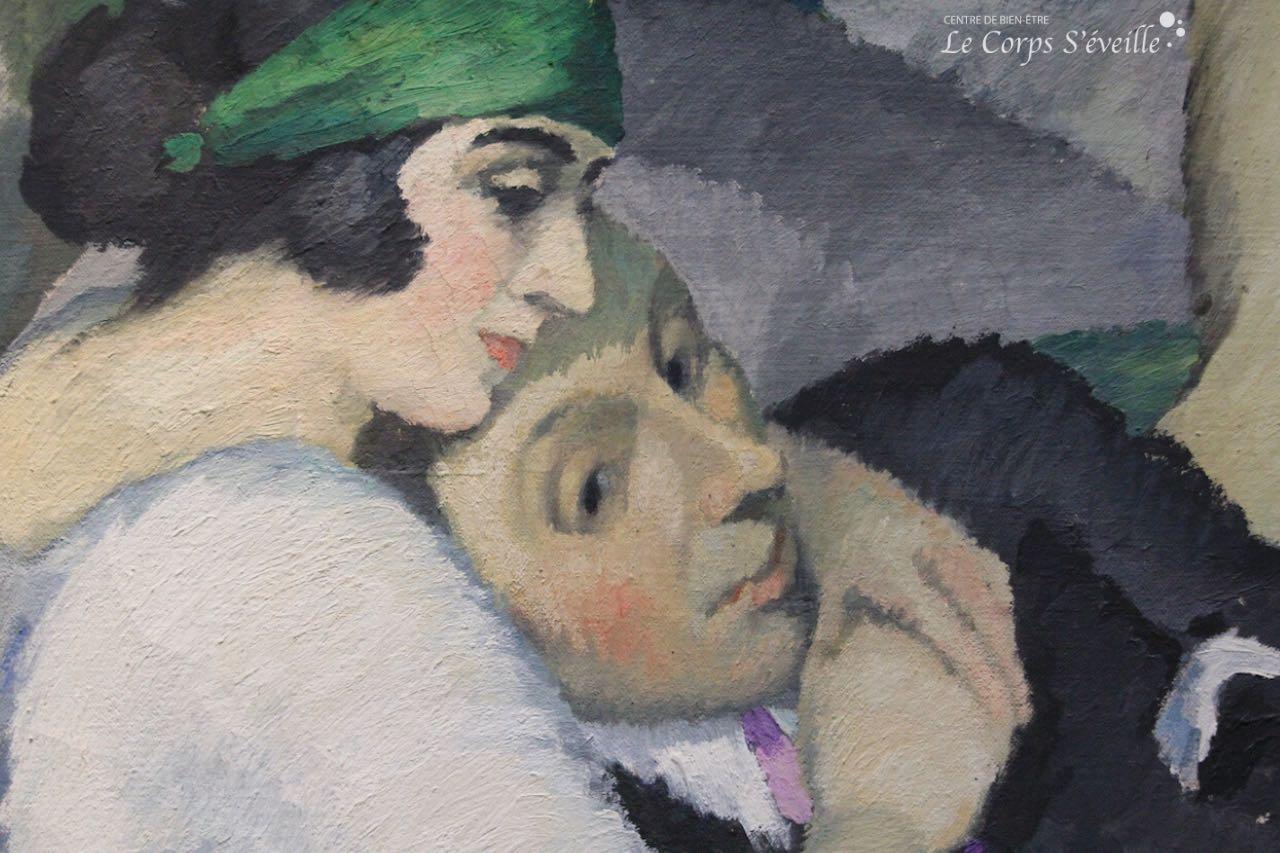 Musée des beaux-arts de Pau. Artiste peintre : Gaston Balande. Improvisation (détail).