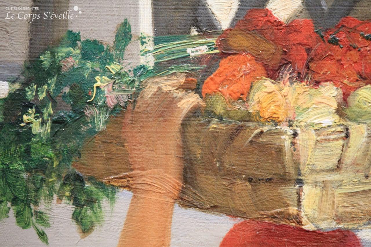 Musée des beaux-arts de Pau. Détail de la peinture de Jean Benner : Une maison à Capri.