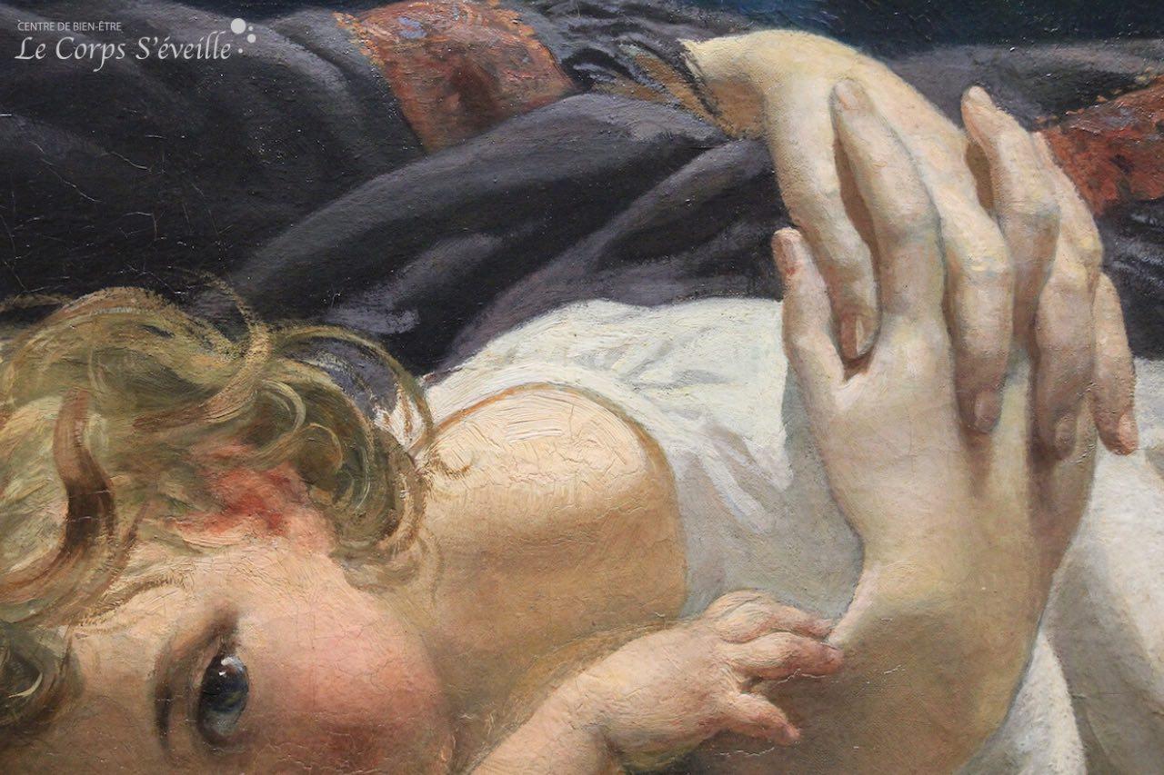 Musée des beaux-arts de Pau. Détail de la peinture de Armand Félix Heullant : L'Abandon.