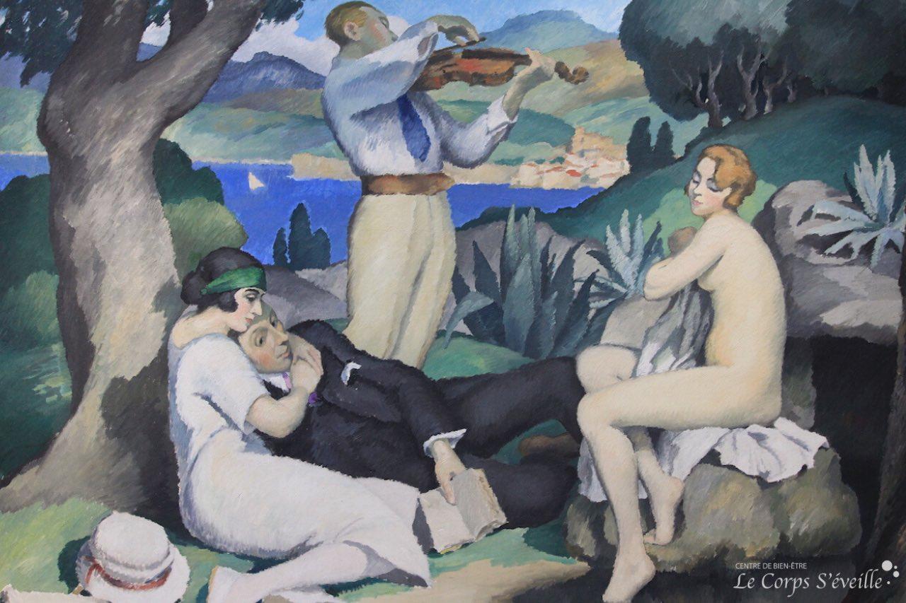 Musée des beaux-arts de Pau. Détail de la peinture de Gaston Balande : Improvisation.