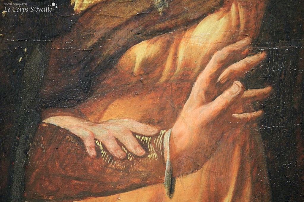 Détail d'une peinture de Nicolaus Knüpfler photographiée au musée des beaux-arts de Pau.