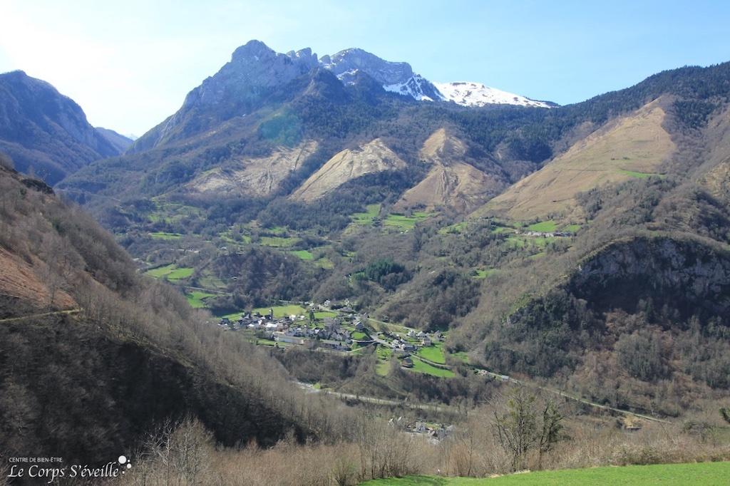 Le village de Borce en haute Vallée d'Aspe, Béarn en Pyrénées.