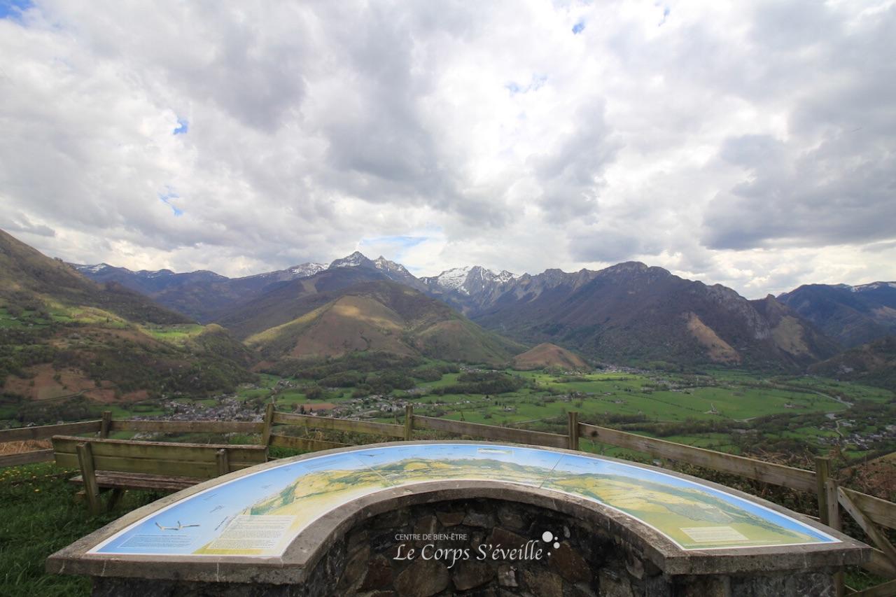 Point de vue sur la Vallée d'Aspe depuis Asserguet, sur les hauteurs de Osse-en-Aspe.