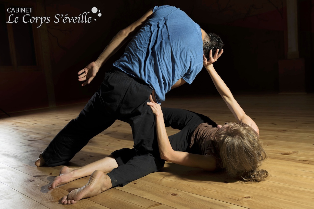 Atelier de danse contact improvisation.
